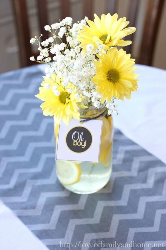 Sunflower Centerpieces Baby Shower : sunflower, centerpieces, shower, Cutest, Yellow, Shower, Ideas