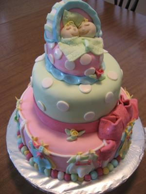 Baby Shower Cake For Twins : shower, twins, Shower, Cakes, Pictures, Instructions!