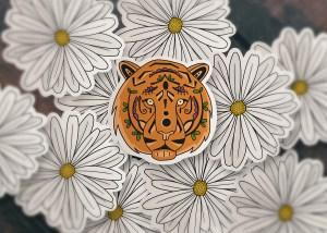 Aesthetic Tiger Sticker