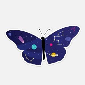 butterfly laptop sticker space