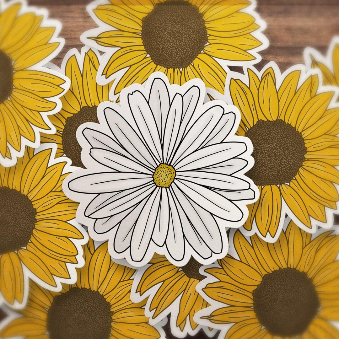 daisy stickers vsco aesthetic blur