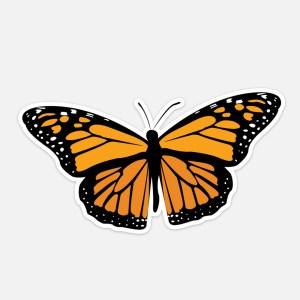 monach butterfly laptop sticker waterproof