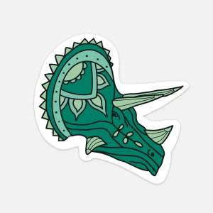 dinosaur sticker triceratops