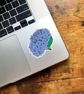 Hydrangea Flower Sticker