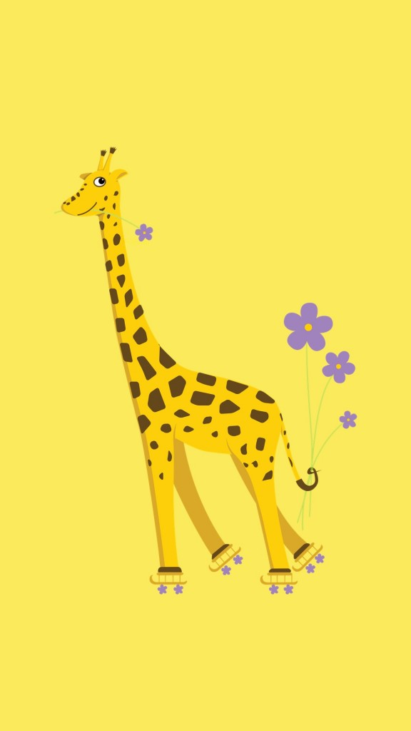 How To Get A Live Wallpaper On Iphone X Cartoon Giraffe On Roller Skates Cute Strange Creatures