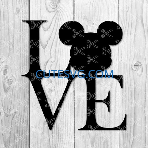 Download Love Mickey Mouse SVG PNG DXF Cut Files - Cute SVG Vector ...