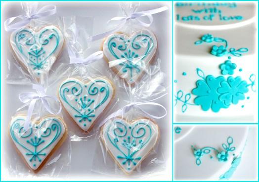 Iced Cookies in aqua
