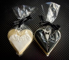 Bride and Groom Ices Cookies