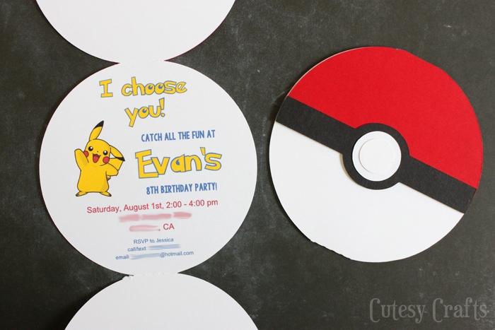 pokemon birthday party invitations