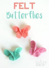 DIY Felt Origami Butterfly Hair Clips - Cutesy Crafts