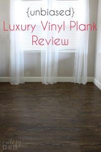 Unbiased Luxury Vinyl Plank Flooring Review - Cutesy Crafts