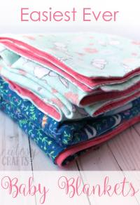 How to Make a Blanket for a Baby - Cutesy Crafts