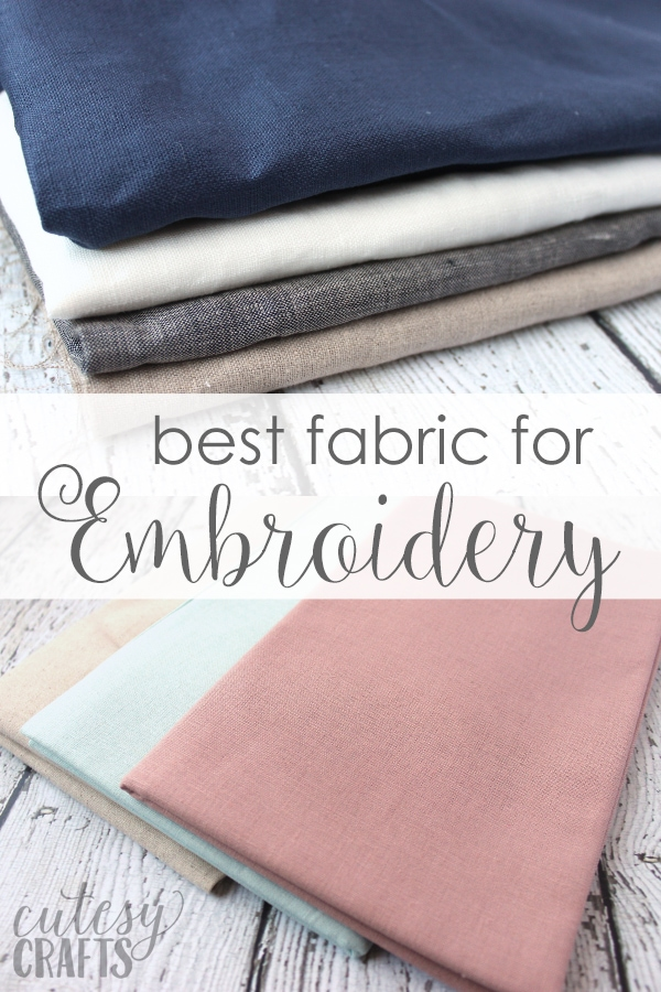 What Fabric To Use For Embroidery : fabric, embroidery, Embroidery, Fabric, Cutesy, Crafts