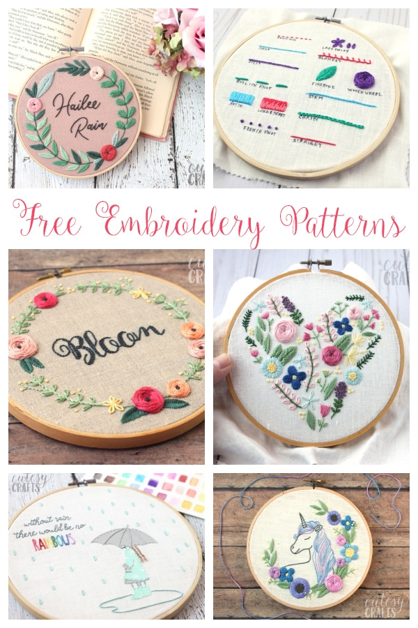 20 free embroidery patterns