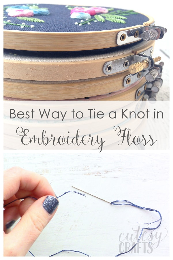 How To End Embroidery : embroidery, Knots, Embroidery, Floss, Quilter's, Cutesy, Crafts