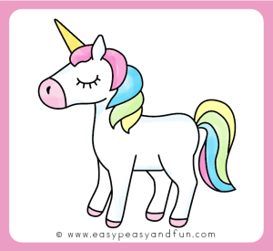 unicorn draw drawing step easy template