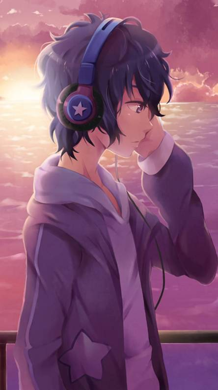 Anime Boy Listening To Music Posted By Christopher Anderson