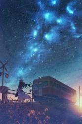 Aesthetic Anime Wallpapers Blue Anime Wallpaper HD