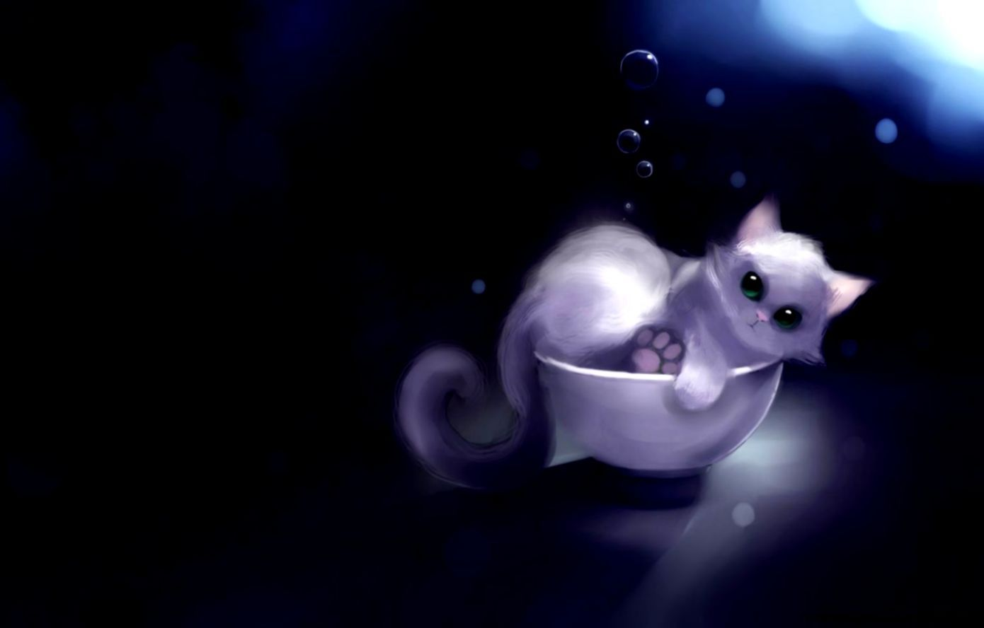 Cute Anime Cat Posted By Samantha Thompson