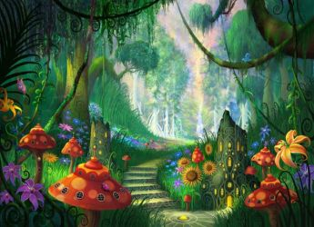 Fairy Forest Background posted by Sarah Johnson