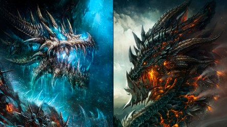 Fire And Ice Dragon Wallpaper posted by John Sellers