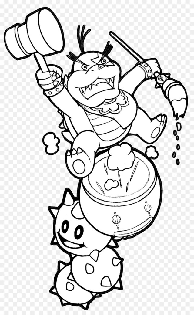 Koopaling Coloring Pages posted by Zoey Walker