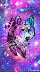 Wolf Galaxy Background posted by Sarah Thompson