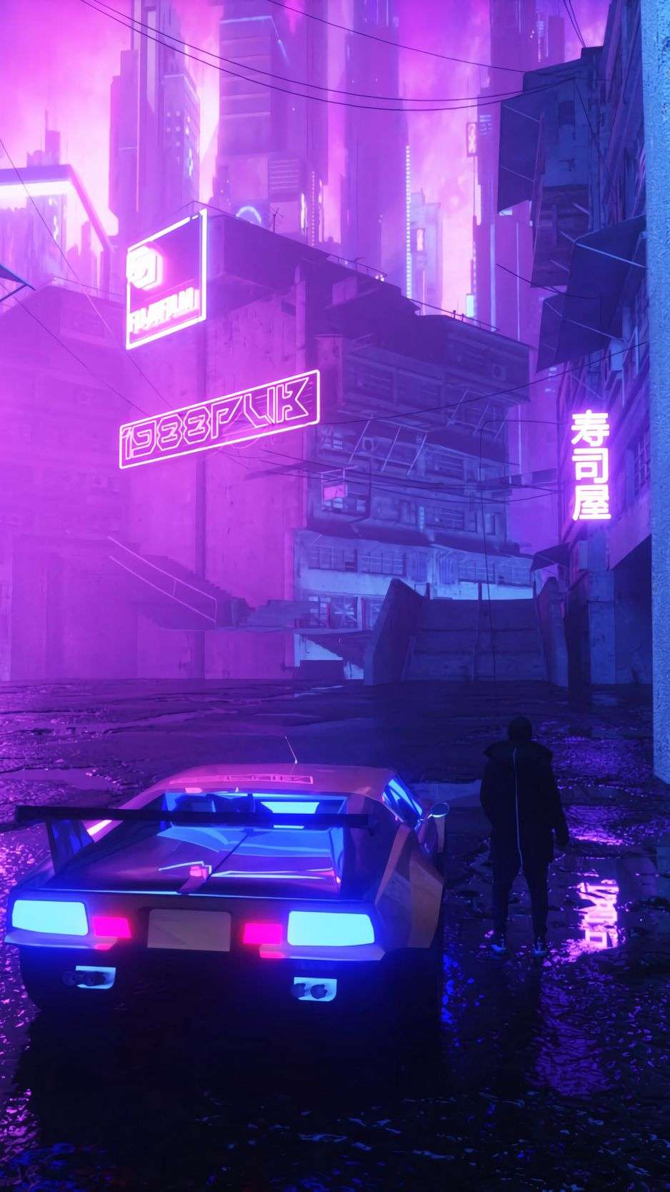 The background of this screen can be a single colour, multiple colours, or some other graphical representations. Retrowave Japan Car Wallpapers Posted By Ethan Mercado