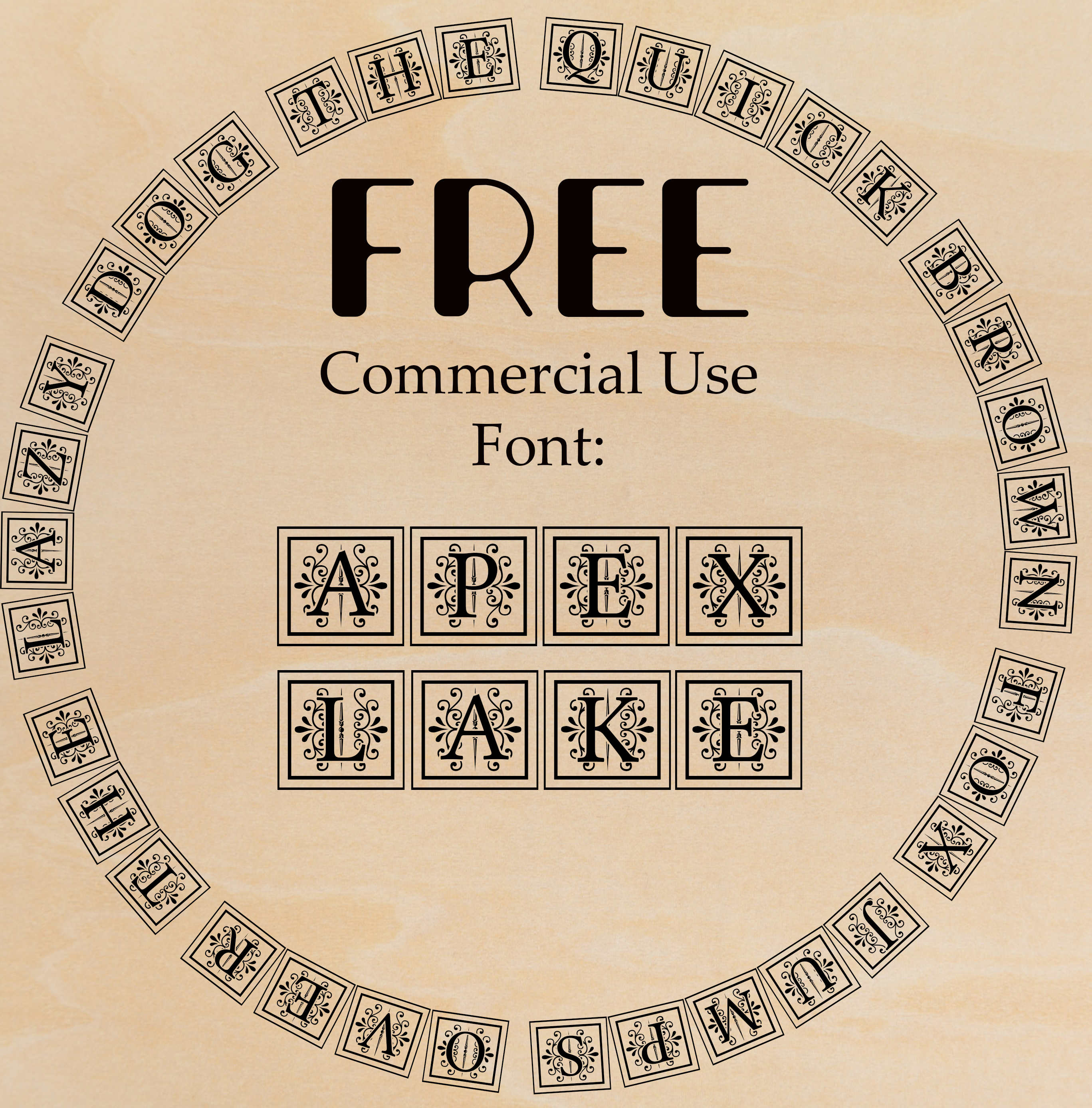 APEX LAKE FREE Commercial Use Font – CutFilesPlus