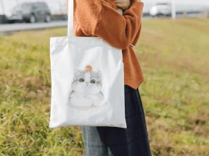 Canvas Tas met Kattenprint