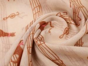 Lange Dunne Sjaal met Kattenprint