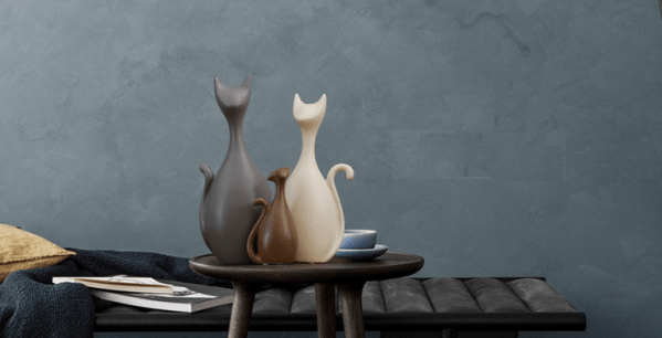 Decoratieve Kattenbeelden met 1 kattenkind