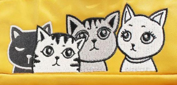 De 4 katten op de Nylon Rugzak met Kattenprint