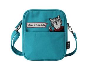 Canvas Crossbody Tas met Kattenprint