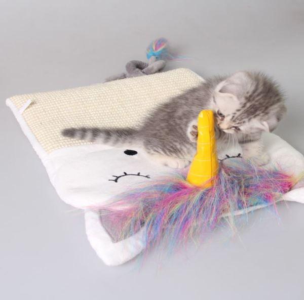 Kat speelt met de Sisal Krabmat voor Katten