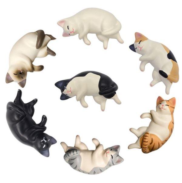 De Katten Koelkastmagneten in een cirkel