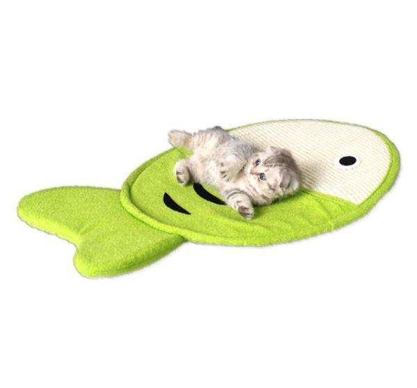 Sisal Krabmat voor Katten met liggende kat