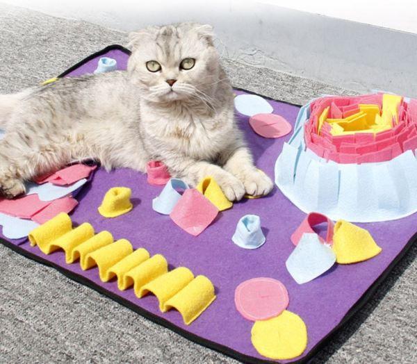 op de Snuffelmat voor Katten kan je kat gemakkelijk slapen