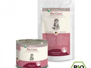 Herrmann's Kattenvoer – Bio Gans met Courgette & Tomaat