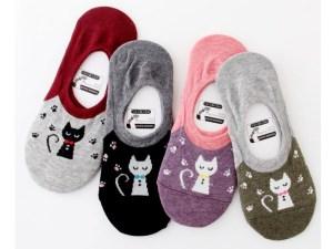 Onzichtbare Sokken met Kattenprint | Maat 35-39