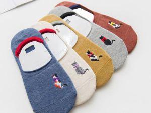 Sneaker Sokken met Kattenborduursel | Maat 35-39