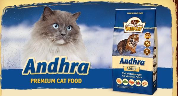 Wildcat Kattenvoer Andhra heeft een hoog visgehalte