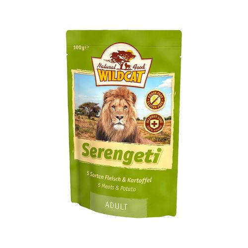Wildcat Natvoer voor Katten 100g Serengeti (5 soorten vlees & aardappelen)