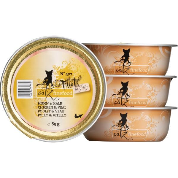 Catz finefood Filets N°407 – Kip & Kalfsvlees in Gelei