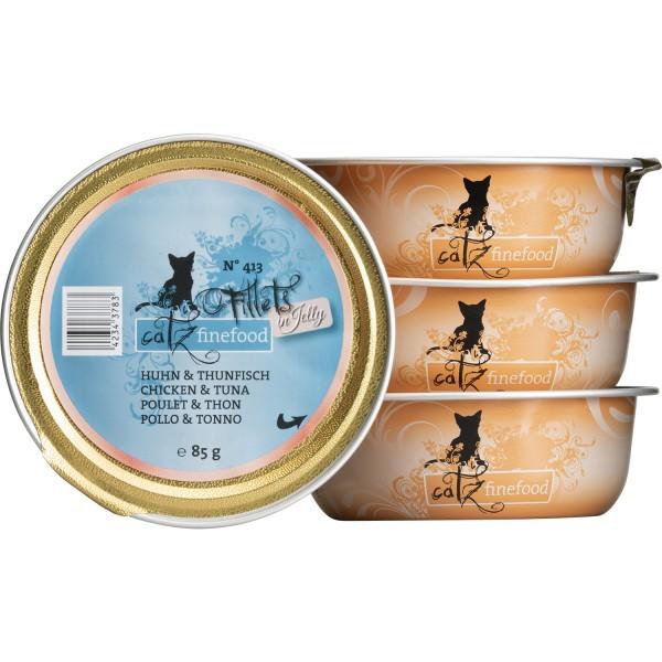Catz finefood Filets N°413 – Kip & Tonijn in Gelei