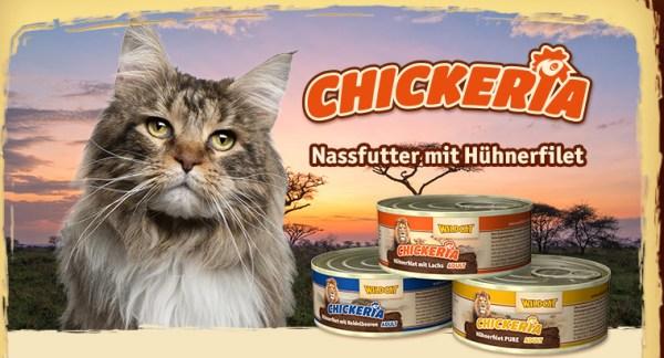 Wildcat Chickeria Natvoer 90g is heel lekker