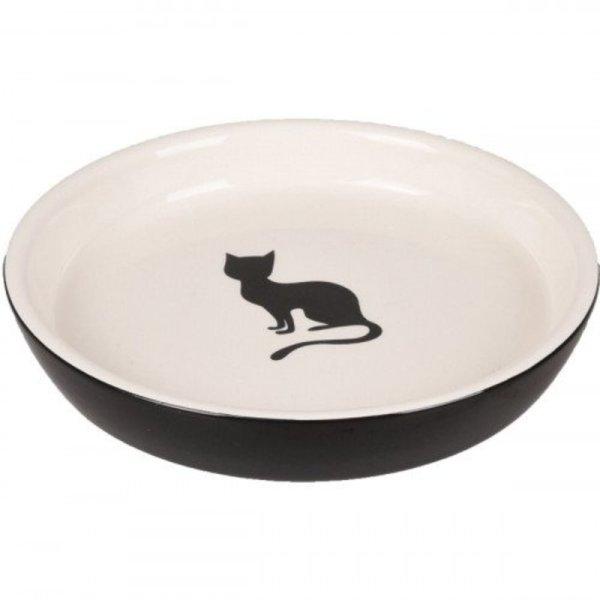 Keramische Kattenvoerbak Rond 15cm 180ml kattenprint