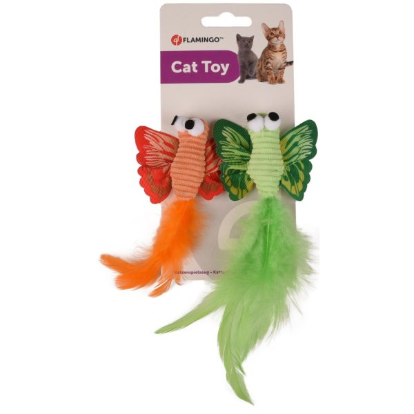 Kattenspeelgoed Vlinder met Veer leuk om op te jagen