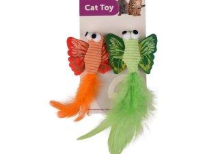 Kattenspeelgoed Vlinder met Veer