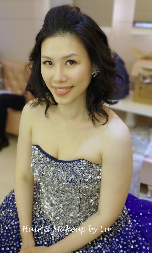 Real Bride   紅豆補請造型  中長髮新娘 – Hair & Makeup by Lu